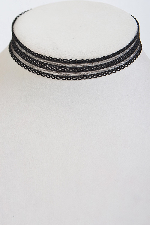 Intricate Patterned Choker  - orangeshine.com