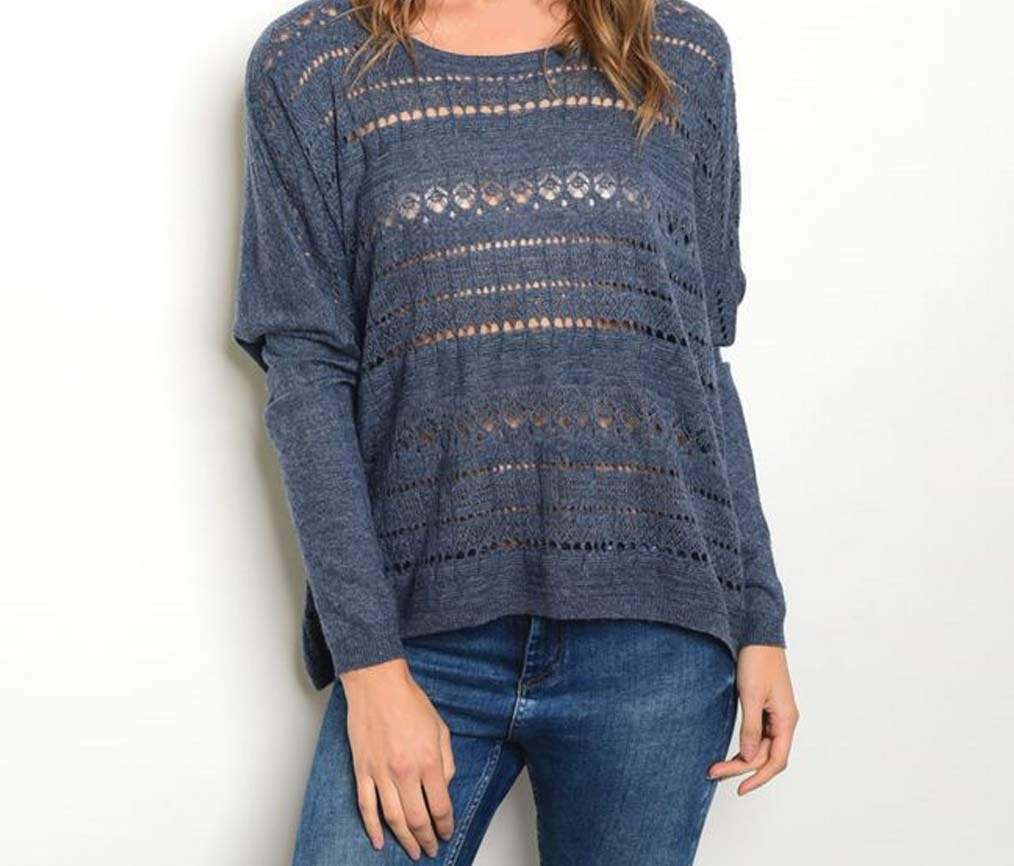 Navy Sweater - orangeshine.com