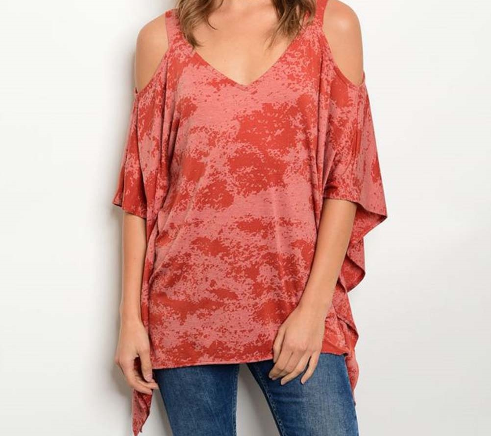 Teal Burnout Tunic - orangeshine.com