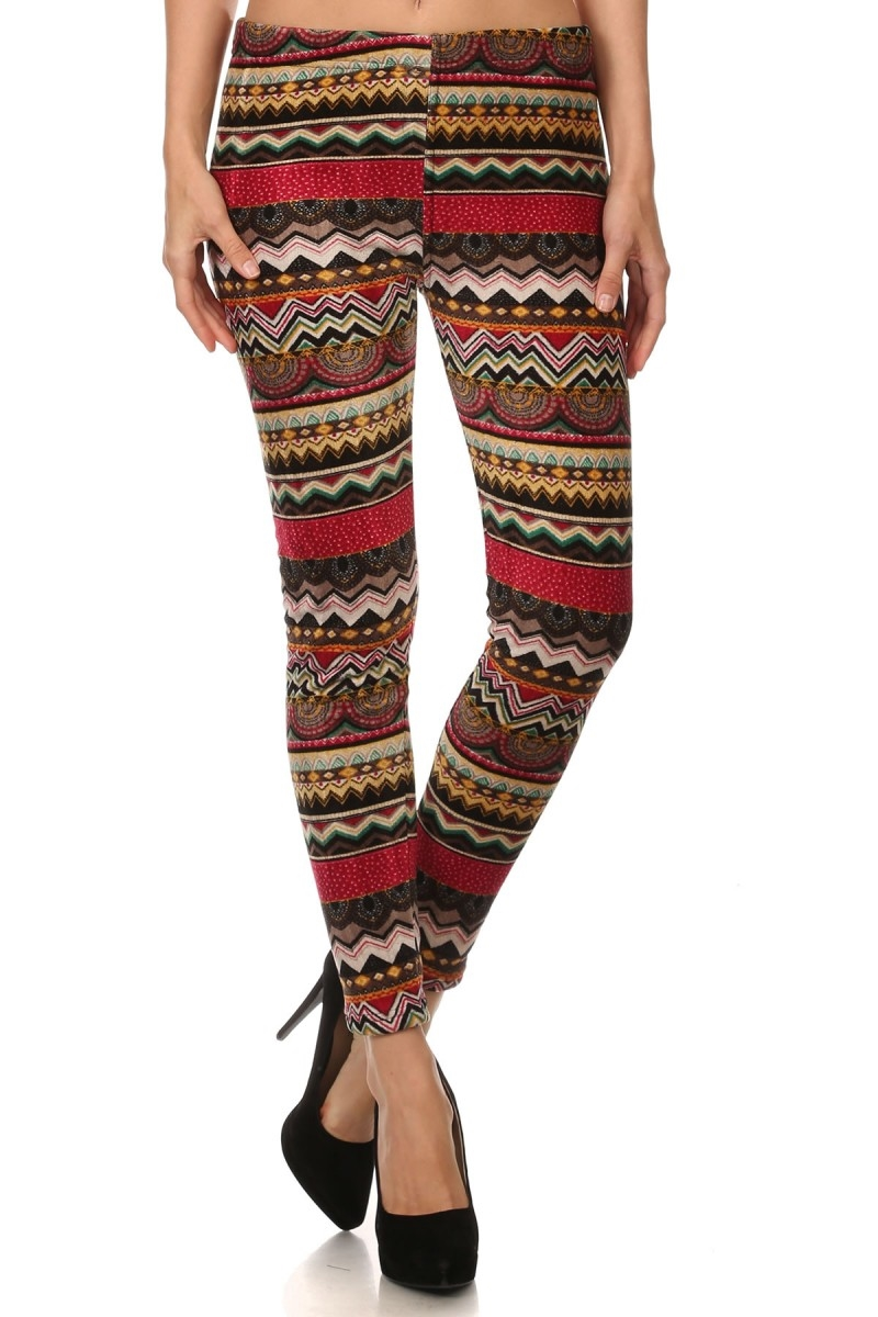 Tribal Print FUR Lined Legging - orangeshine.com