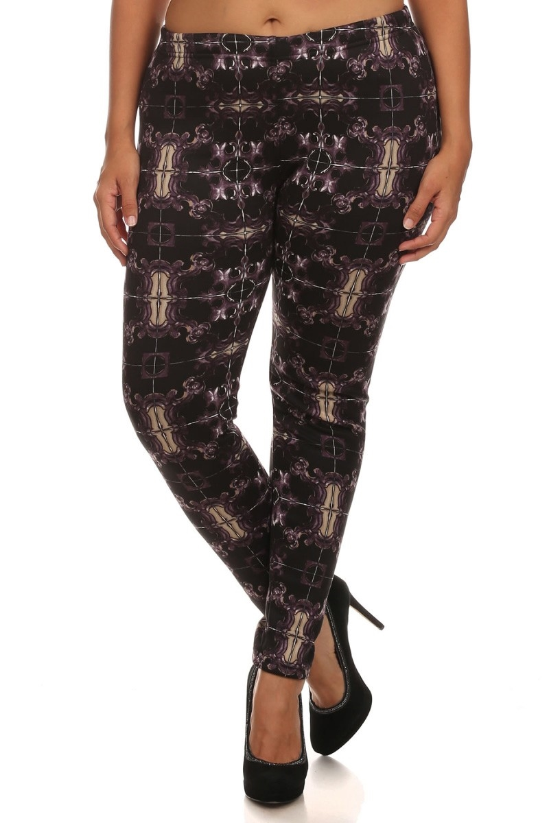 Plus Size FUR Lined Leggings - orangeshine.com