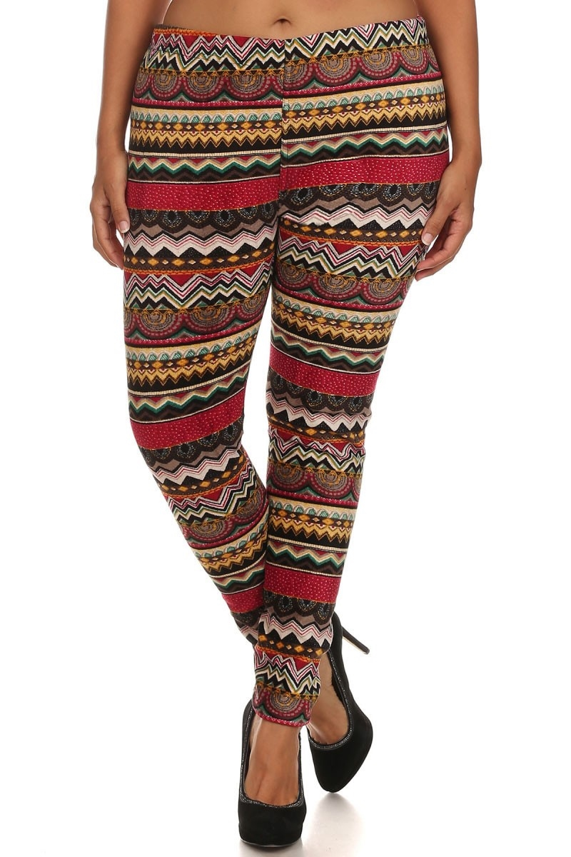 Plus Size Fur Leggings Boho - orangeshine.com