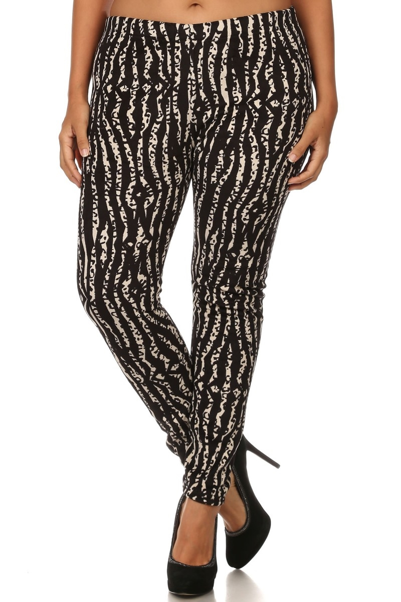 Plus Size FUR Leggings Animal - orangeshine.com
