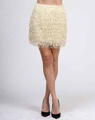 LASER CUT FRINGES MINI SKIRT - orangeshine.com