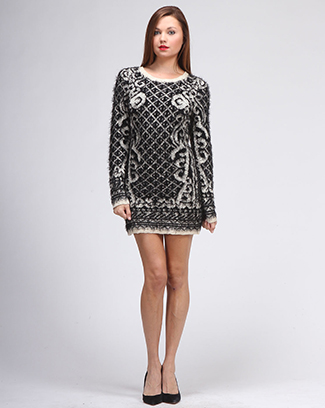 FURY TUNIC SWEATER DRESS - orangeshine.com