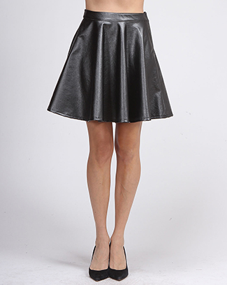 SOLID SKATER SHORT SKIRT - orangeshine.com