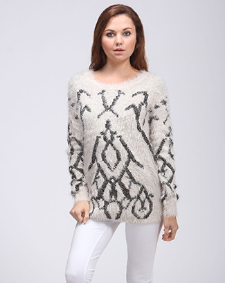 FURRY COZY SWEATER - orangeshine.com