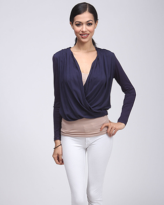 SURPLICE SOLID TOP - orangeshine.com