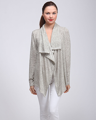 DRAPED CARDIGAN SWEATER - orangeshine.com