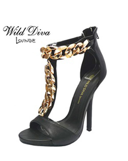 T STRAP HEEL WITH CHAINS - orangeshine.com
