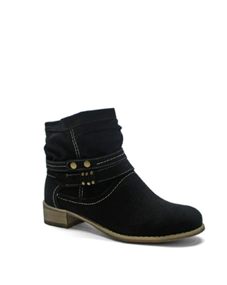 SOLID ANKLE BOOTS WITH STRAPS - orangeshine.com