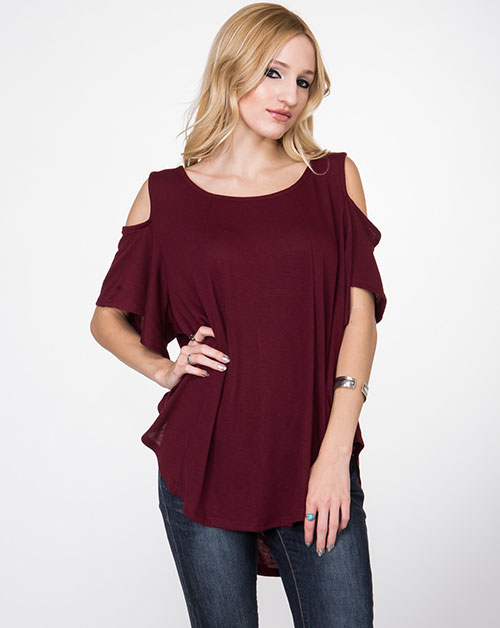 Off Shoulder Shirt - orangeshine.com