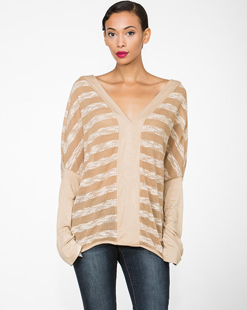 STRIPPED LOOSE TOP - orangeshine.com