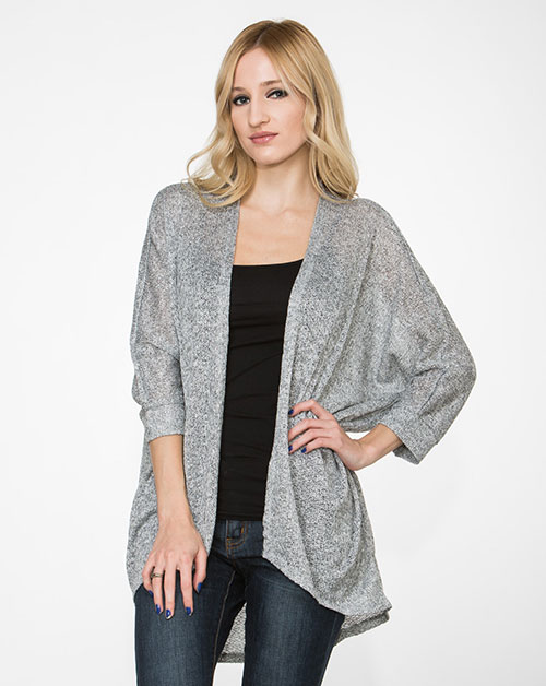 Heather Grey Cardigan - orangeshine.com