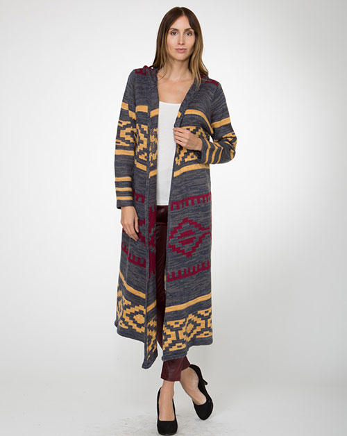 Native Pattern Cardigan - orangeshine.com