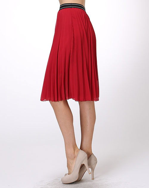 PLEATED MIDI SKIRT - orangeshine.com