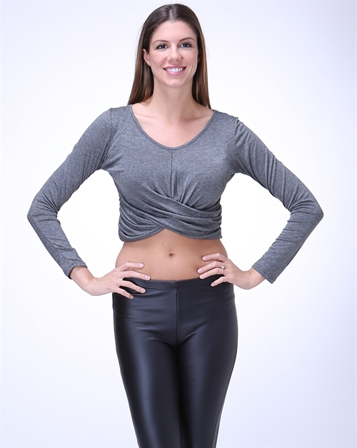 Long Sleeve Crop Top - orangeshine.com
