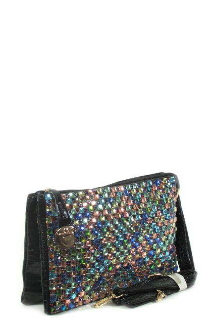 rhinestone messenger bag - orangeshine.com