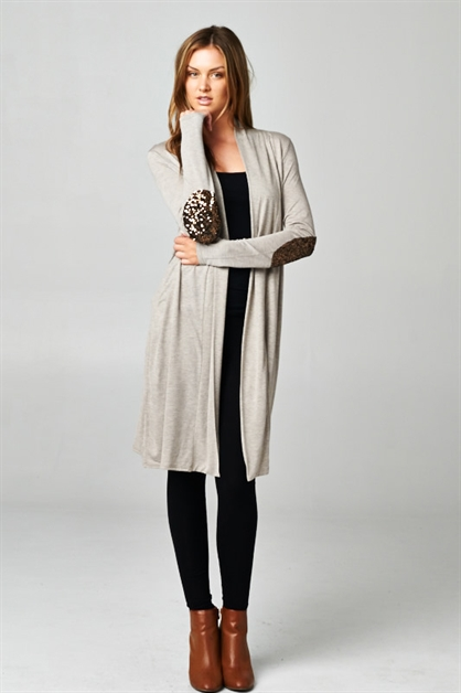 Sequence Patch Long Cardigan - orangeshine.com