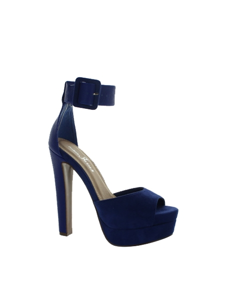 SOLID PLATFORM HEELS WITH ANKLE STRAP - orangeshine.com