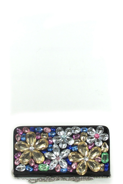 multi color flower rhinestone - orangeshine.com