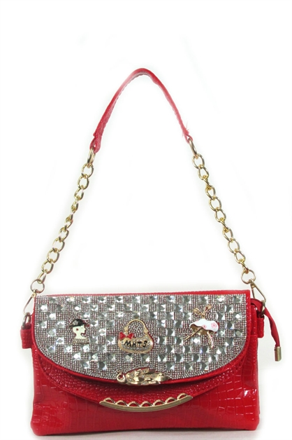Shouder rhinestone bag - orangeshine.com