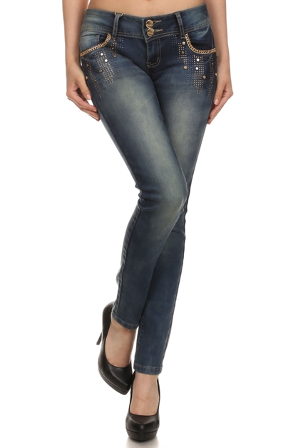 DENIM MEDIUM WASH JEANS - orangeshine.com