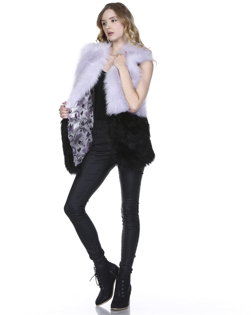 -Plush Fur Inspired Vest  - - orangeshine.com
