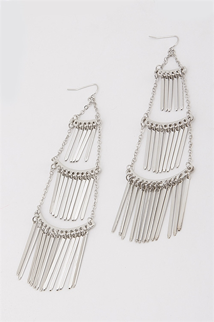 Layered Drop Earrings - orangeshine.com