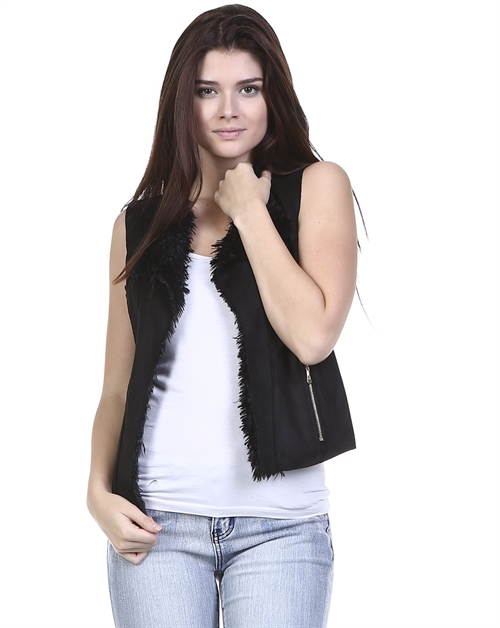 MIX FABRIC VEST - orangeshine.com