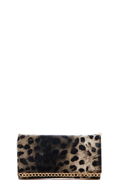 Chic Leopard Clutch Wallet - orangeshine.com