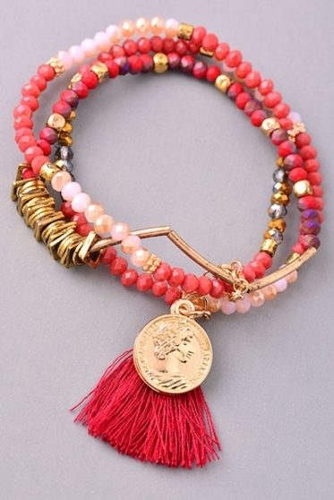 Boho Beaded Stretch Bracelet - orangeshine.com