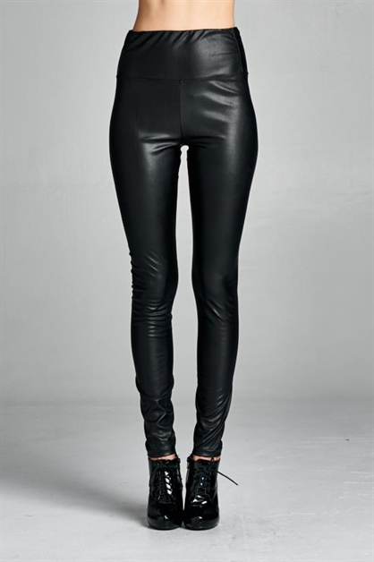 Rowdy HW Vegan Leather Legging - orangeshine.com