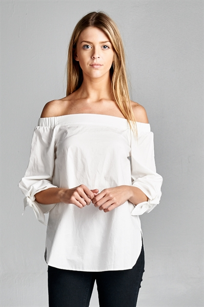 Tied Up With You Blouse - orangeshine.com