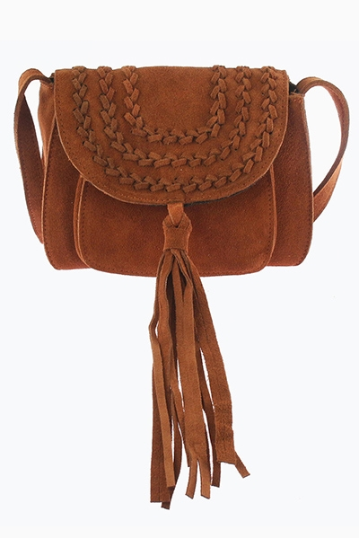 Welt Stitch Suede Crossbody - orangeshine.com