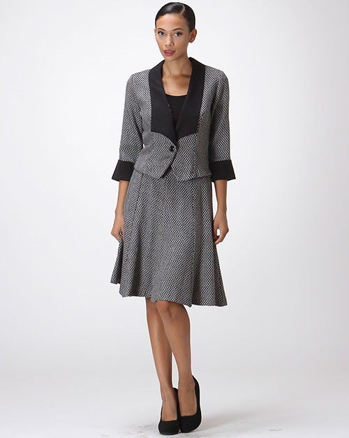 TWEED SKIRT SUIT - orangeshine.com