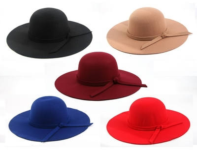 Floppy Wide Brim Fedora Hat - orangeshine.com
