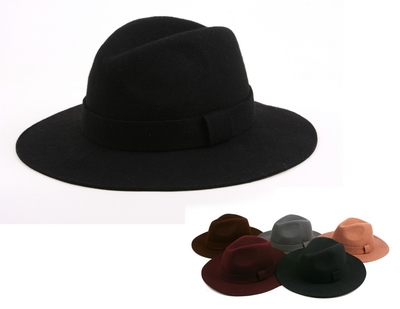 Wool Winter Fedora Hat - orangeshine.com