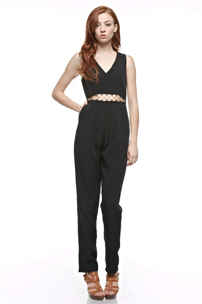Embellished Jumpsuit - orangeshine.com