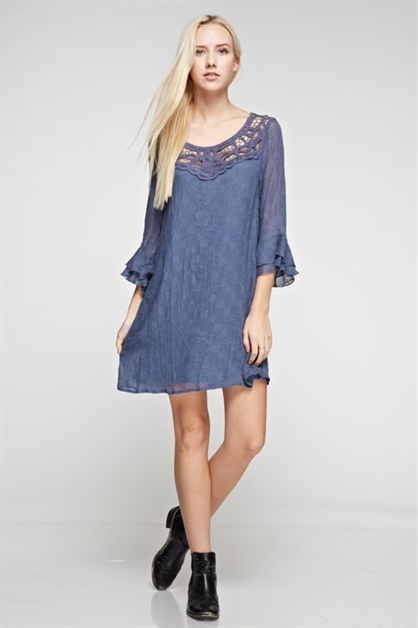 LACE TRIM DRESS - orangeshine.com