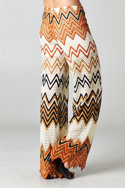 Multi-Colored Chevron Pants - orangeshine.com