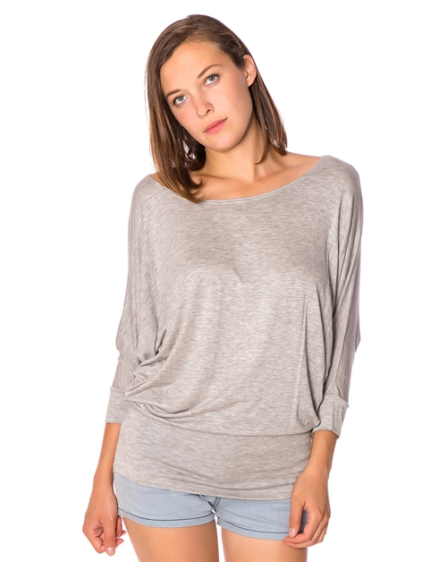 3/4 SLEEVE JERSEY TOP - orangeshine.com