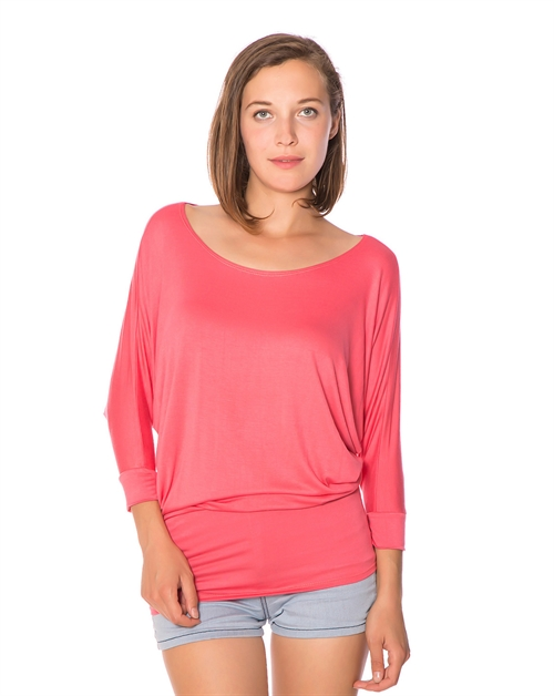 DOLMAN SLEEVE TUNIC TOP - orangeshine.com