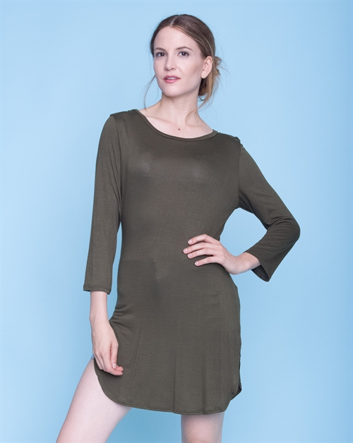 3/4 SLEEVE TUNIC TOP - orangeshine.com