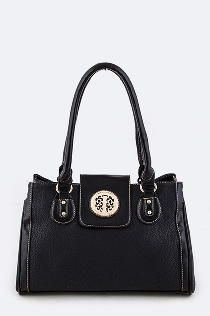 Medallion Flap Hand Bag - orangeshine.com