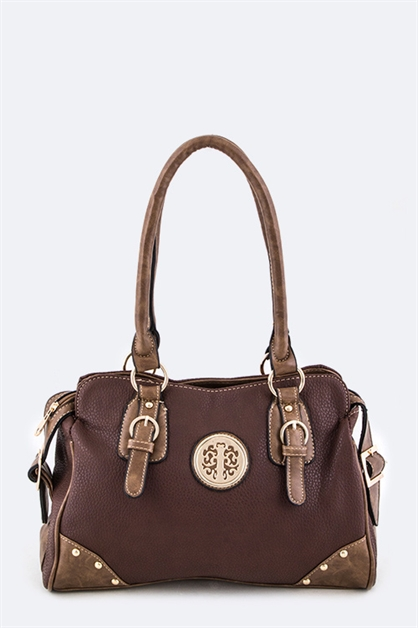 Medallion Studded Hand Bag - orangeshine.com