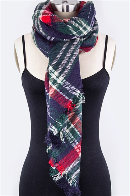 Mad For Plaid Large Scarf - orangeshine.com