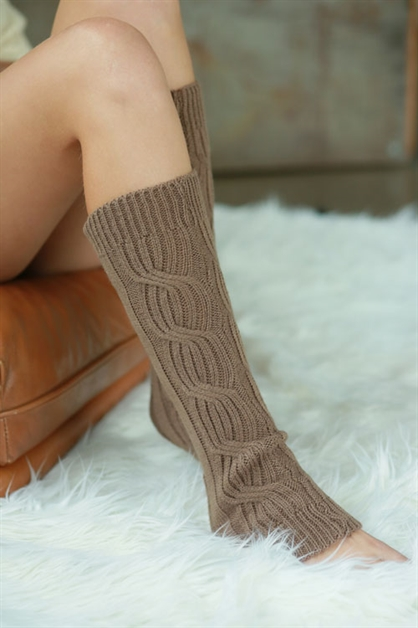 CHUNKY CABLE KNIT LEG WARMERS - orangeshine.com