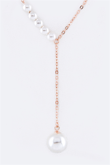 Sterling Silver Pearl Necklace - orangeshine.com