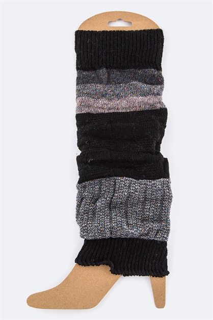 Mix Color Blocks Leg Warmers - orangeshine.com